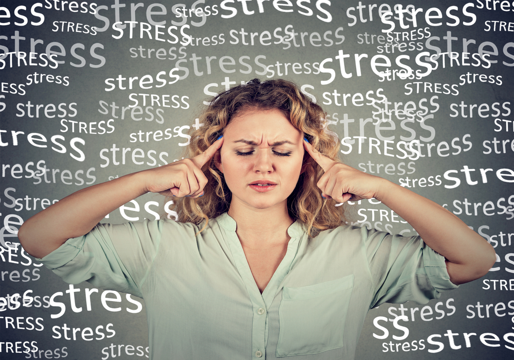 young woman feeling stressed