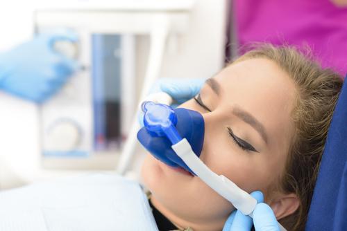 female patient under nitrous oxide sedation